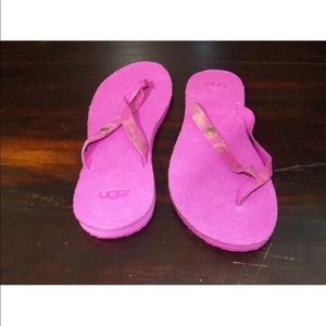 New Women UGG Ally Lizard Pink Gold Leather Sandal